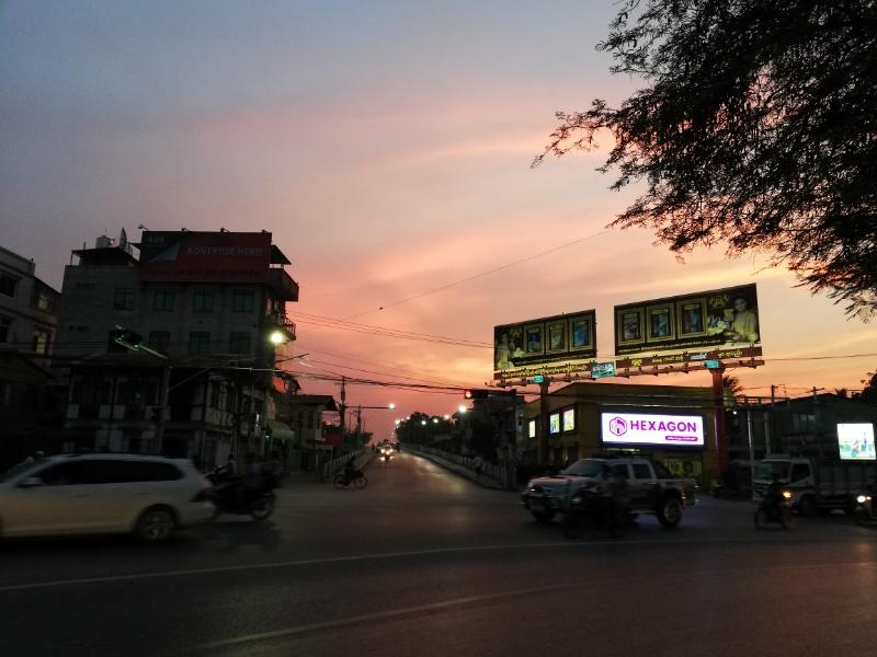 マンダレーの夕陽