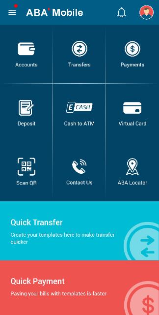 ABA BANKアプリ