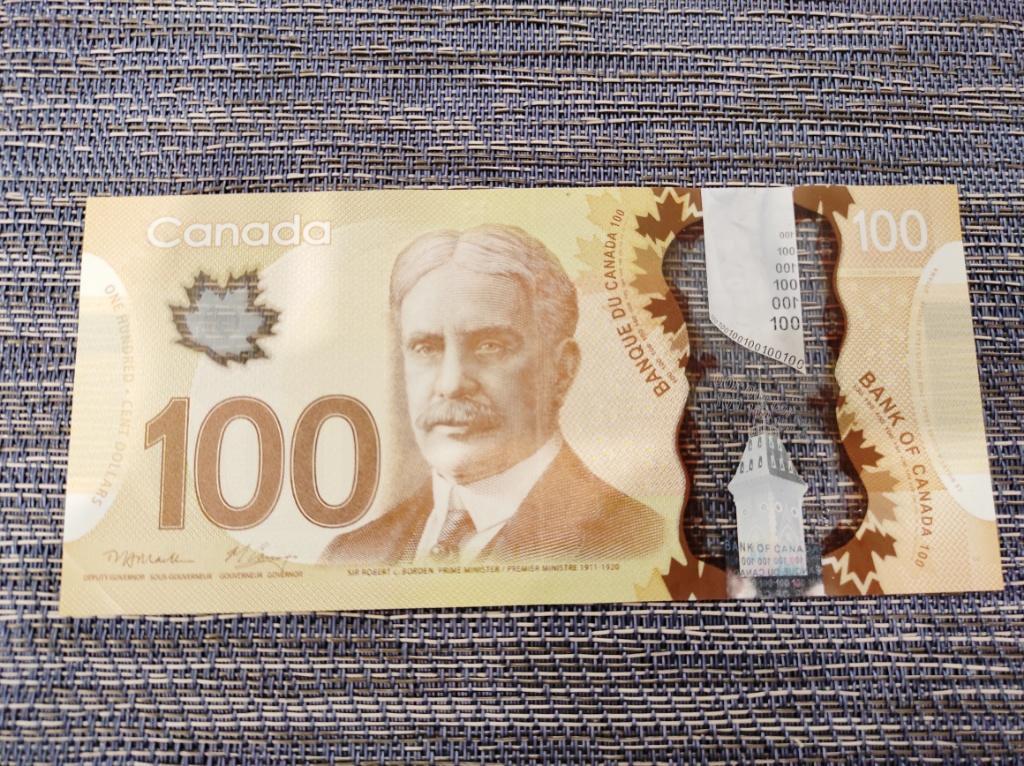 100カナダドル